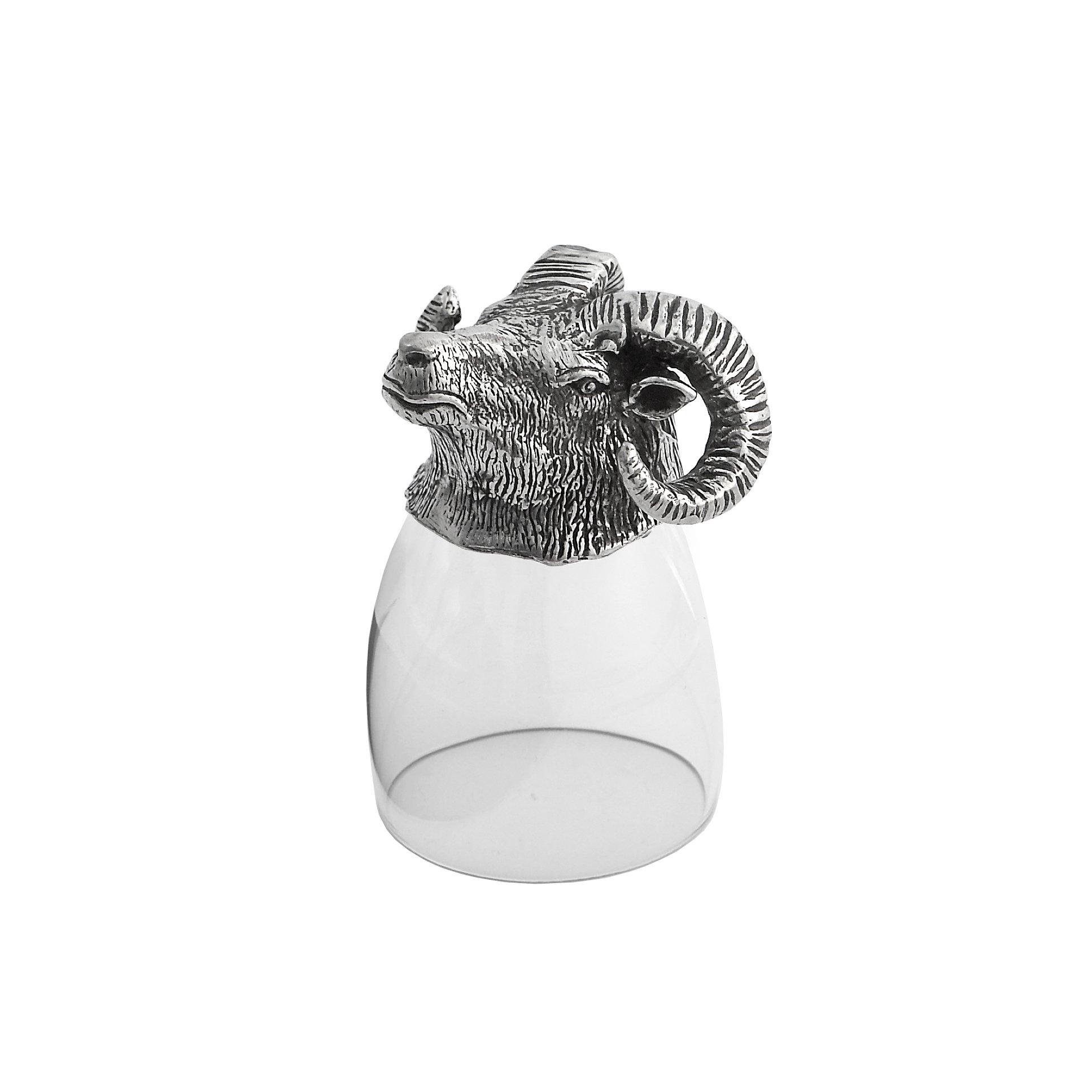 Arte Italica Animale Ram Liqueur Glass, Clear