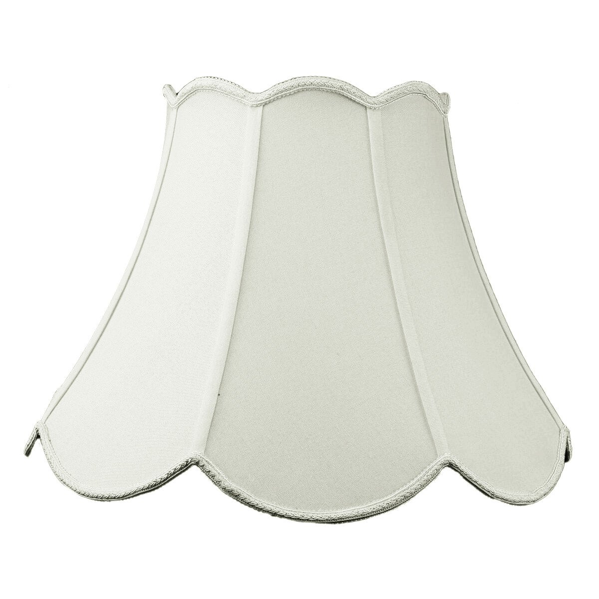 9x18x13 Scalloped Bell Lampshade Premium Light Oatmeal Linen with Brass Spider fitter By Home Concept - Perfect for table and floor lamps - Large