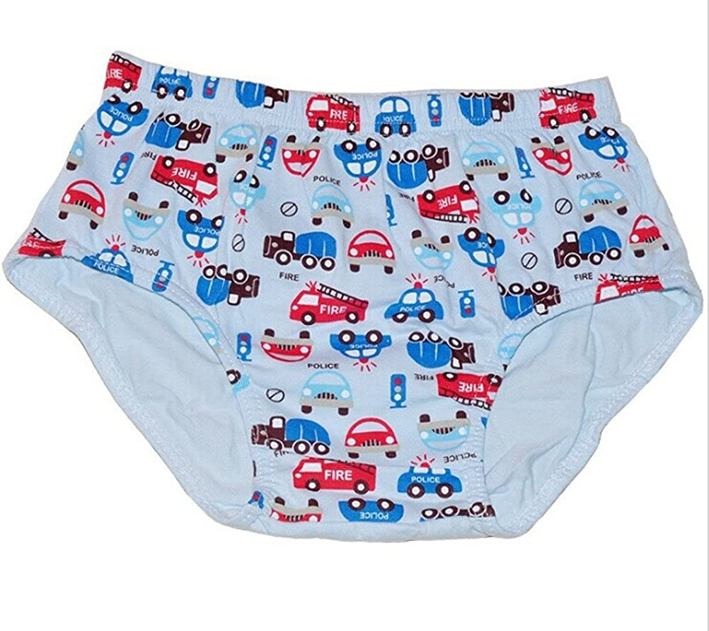 Adiasen Little Boys 6 Packs Cotton Underwear Briefs Hipster Mixed Color