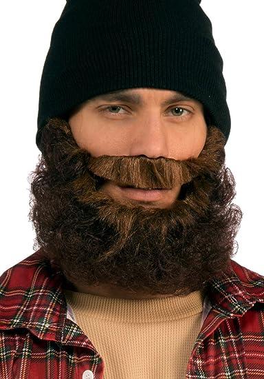 f1c8512249b Amazon.com  Forum Novelties Men s Beard-Brown Curly with Moustache ...