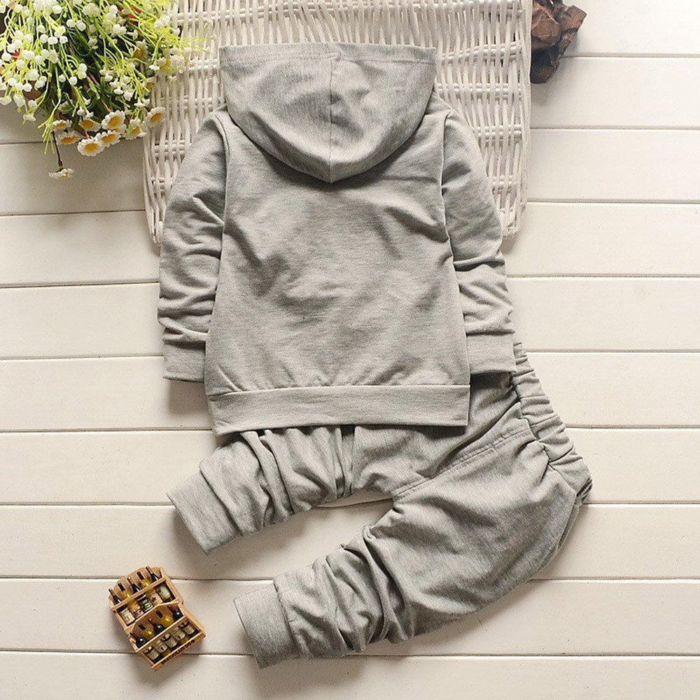 Clearance Infant Girls Boys Thanksgiving Day 2PCS Thick Warm Clothes Set STYLE Letter Pullover Hoodie Cotton Long Pant