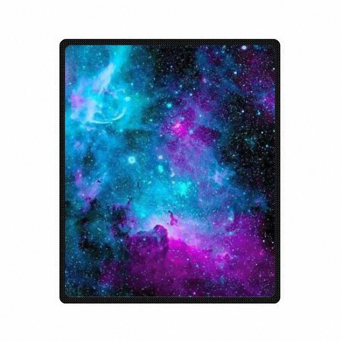QH with Galaxy Velvet Plush Throw Blanket(Large) Super Soft and Cozy Fleece Blanket Perfect for Couch Sofa or Bed