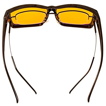 Duco Optiks ERGONOMIC Advanced computer Gaming da indossare sopra gli occhiali da vista anti luce blu avvolgente Eyewear 8953L L Large V2kB2