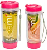 Tea Tumbler Color Pink by Teami Size 13.05 Ounces 400 Milliliters