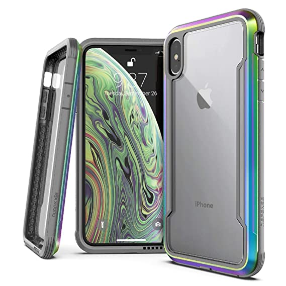 new concept 51d42 2f862 X-Doria Defense Shield Series, iPhone XS Max Case - Military Grade Drop  Tested, Anodized Aluminum, TPU, and Polycarbonate Protective Case for Apple  ...