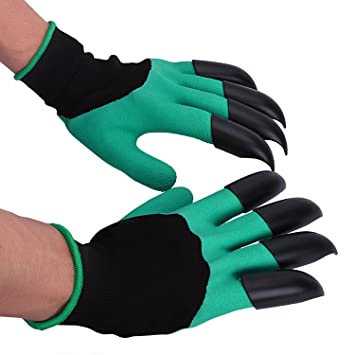 JOYTOUR Garden Gloves Thorn Proof Digging Planting With Claws For Roses  Cactus Breathable Cut
