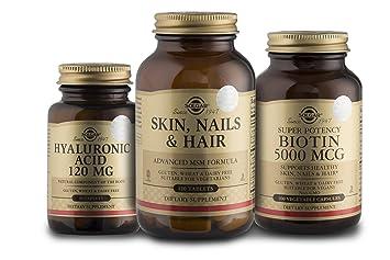 Amazon.com: Solgar Hair Skin and Nails MSM with Biotin (Vitamin B7 ...