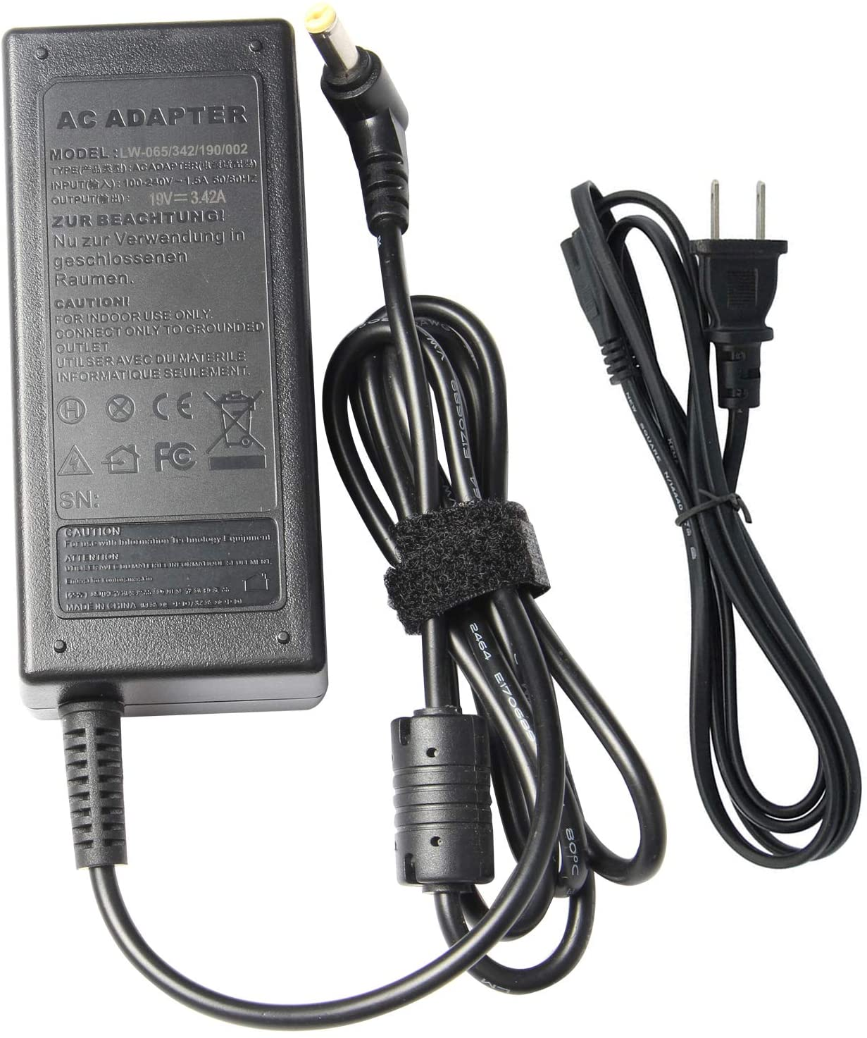 AC Doctor INC 19V 3.42A 65W AC Adapter Charger for Gateway NE51b10u NE51B10u NE56R11U NE56R12U NE56R10U NE71B06u NE56R37u NE56R31u Laptop Power Supply Cord 5.5x1.7mm