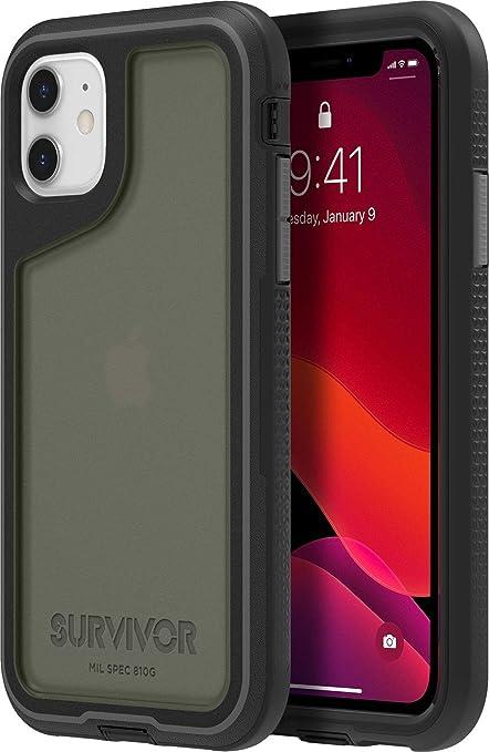 Griffin Survivor Extreme GIP-032-BKG Case for Apple iPhone 11 - Black/Grey, Transparent