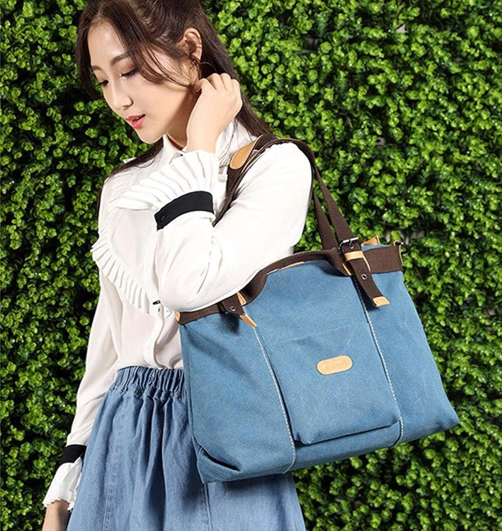 A.OAQRFA Damen Handtasche, Canvas Bag Large Totes Umhängetasche zum Einkaufen, Lässig und Arbeiten, 38 * 12 * 29cm Blau