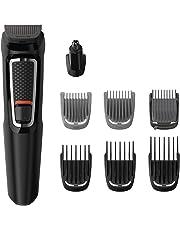 Philips MG3730/15 - Recortadora para Barba 8 en 1, Nariz y Orejas, cortapelos Cara, Cabeza