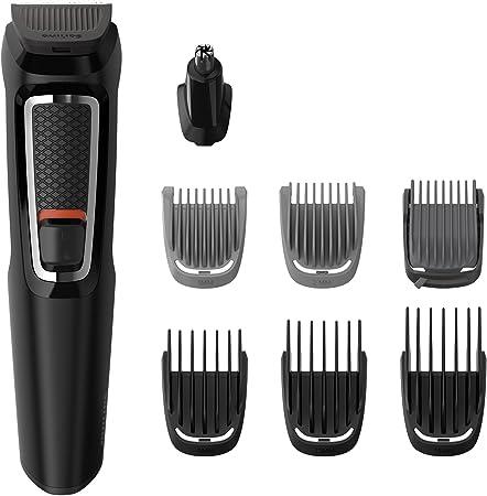 Set de afeitado multifunción con 8 accesorios para cara, cabello y cuerpo,Cuchillas autoafilables su