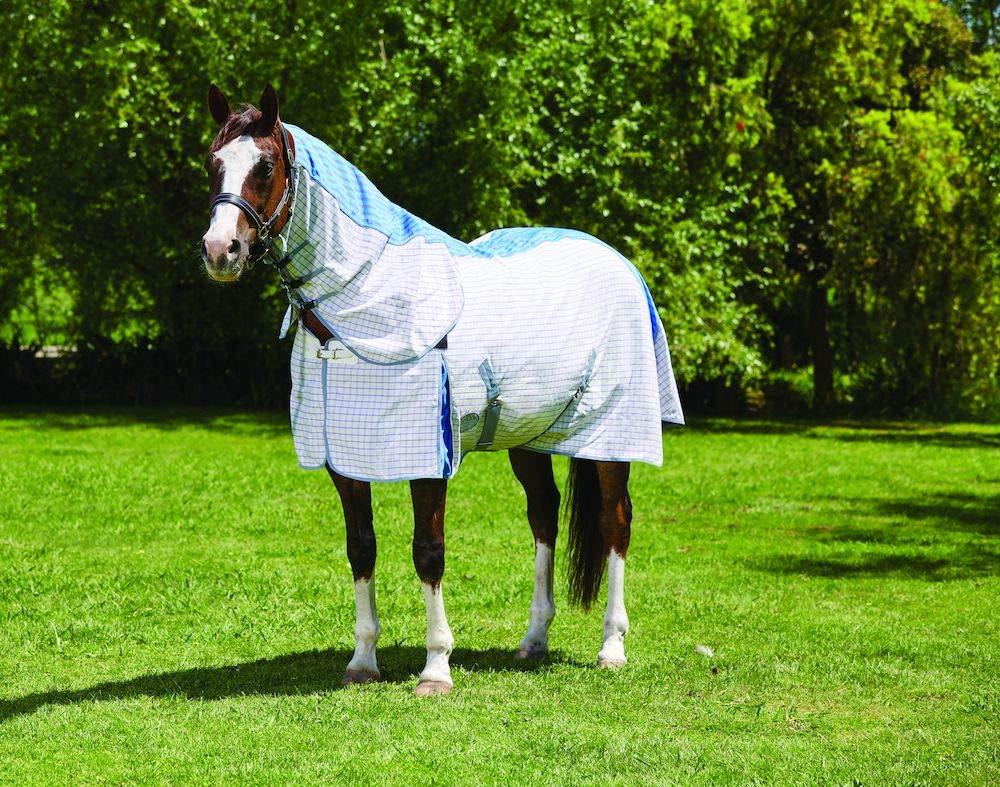 PURPLE blueE GREY 6'9 PURPLE blueE GREY 6'9 WEATHERBEETA Summer Sheet Combo Neck with Freestyle Tail III Purple bluee Grey 6'9 Horse Rug