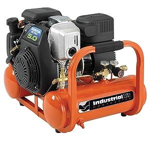 4 Gal. Portable Pontoon Air Compressor with 5 HP Honda Gas Engine