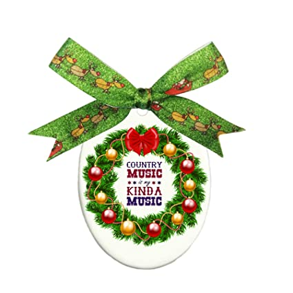 Takada Country Music Is My Kind Music Oval Ornament - Oval Holiday  Christmas Ornament Decorative Gift - Amazon.com: Takada Country Music Is My Kind Music Oval Ornament