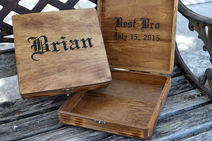 Personalized Cigar Box Wedding Groomsman Gift Bridal Party Gift Gift For Bridal Party Personalized Gifts For Him