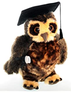 Plush owl with graduation hat and scroll 04c82a110b15
