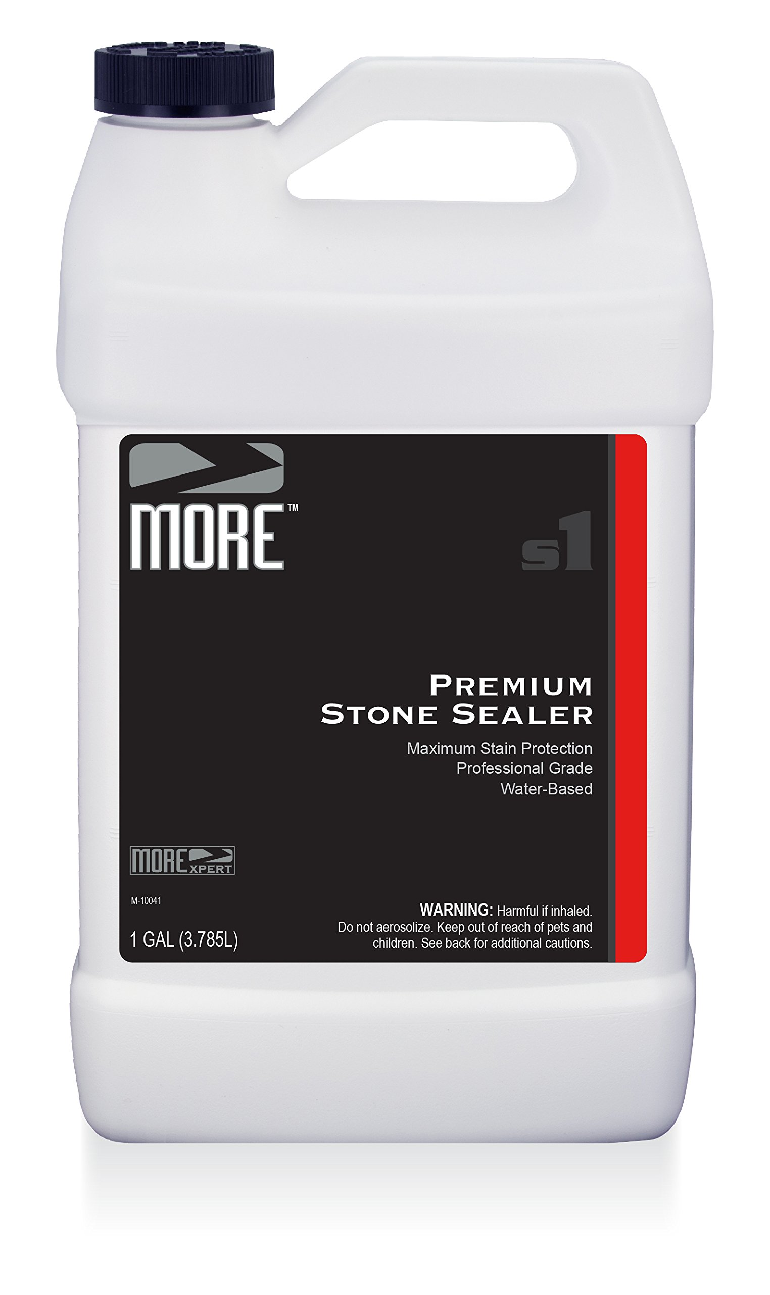 MORE Premium Stone Sealer - Gentle, Water Based Formula - Protection for Natural Stone and Tile Surfaces [Gallon / 128 oz.]