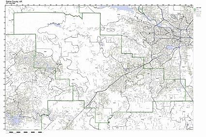 Zip Code Map Arkansas.Amazon Com Saline County Arkansas Ar Zip Code Map Not Laminated