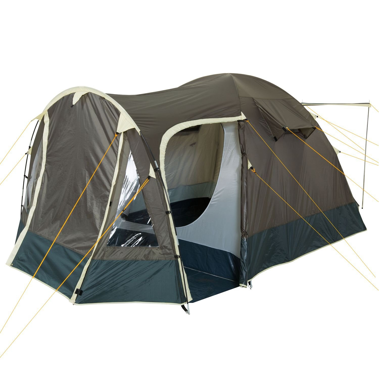 C&Feuer - Igloo/Dome-Tent with Porch 3-4 Persons khaki / dark green Amazon.co.uk Sports u0026 Outdoors  sc 1 st  Amazon UK & CampFeuer - Igloo/Dome-Tent with Porch 3-4 Persons khaki / dark ...
