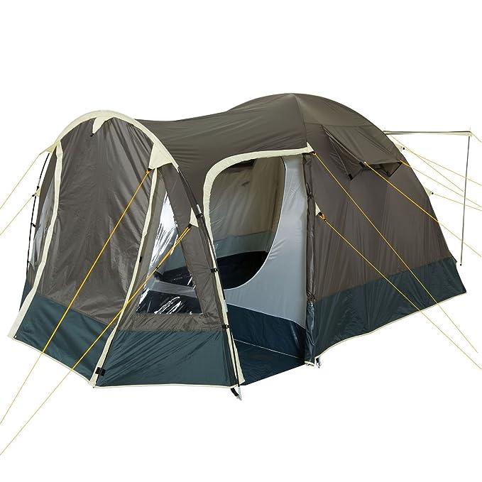 CampFeuer Campingzelt Igluzelt für 4 Personen Zelt3000 mm Kuppelzeltblau