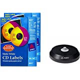 Avery CD Labels - 200 Disc labels & 400 Spine labels (8691) and Avery CD/DVD Label Applicator (5699)