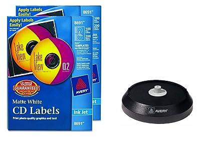 amazon com avery 8691 cd labels inkjet matte 100 pk white