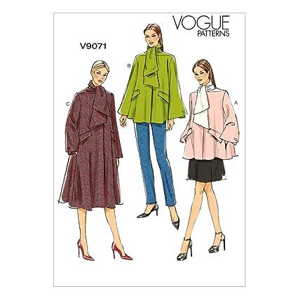 Vogue V9071 costura para confeccionar blusas, trajes, vestidos, moda, VGE 9071 E5