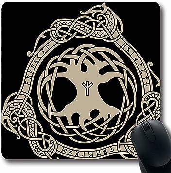 Jamron Mousepad OblongDesign Cuervo Medieval Celta Retro ...