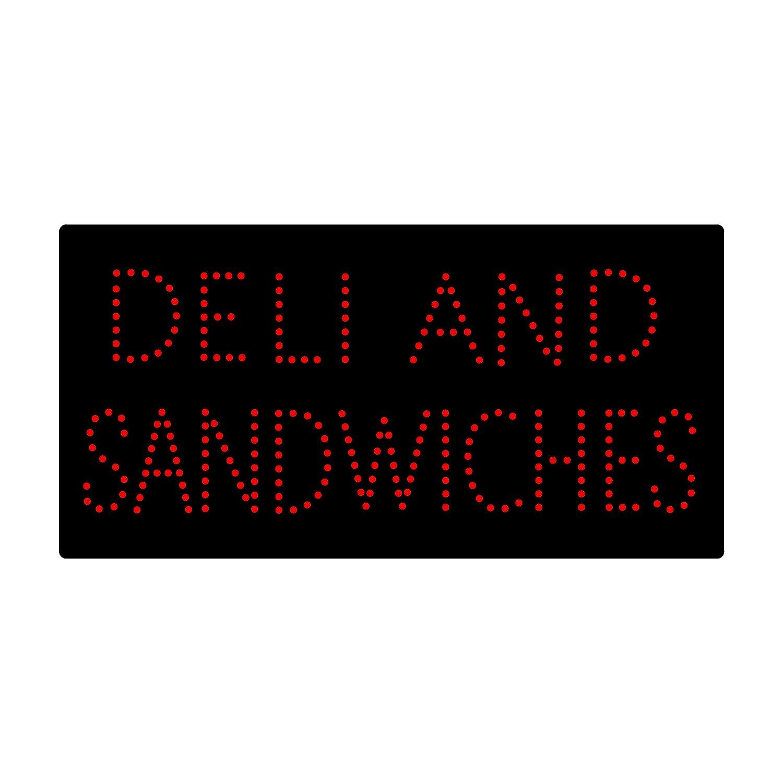 LED Deli Sandwich Open Light Sign Super Bright Pizza Hot Dog ...