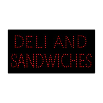 LED Deli Sandwich Open Light Sign Super Bright Pizza Hot Dog ...