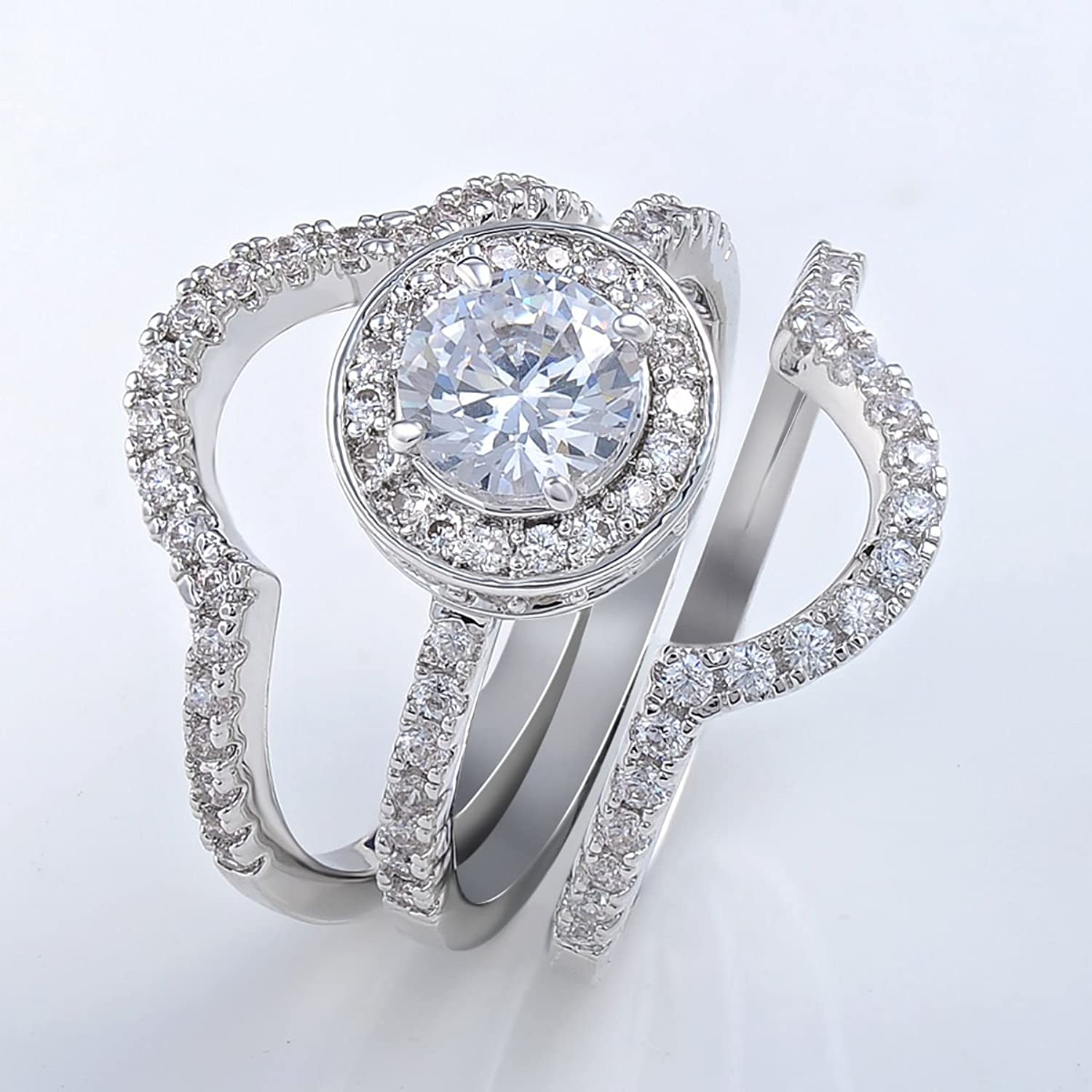 gold ring white diamond carats blingy cocktail i rings lots best engagement of price