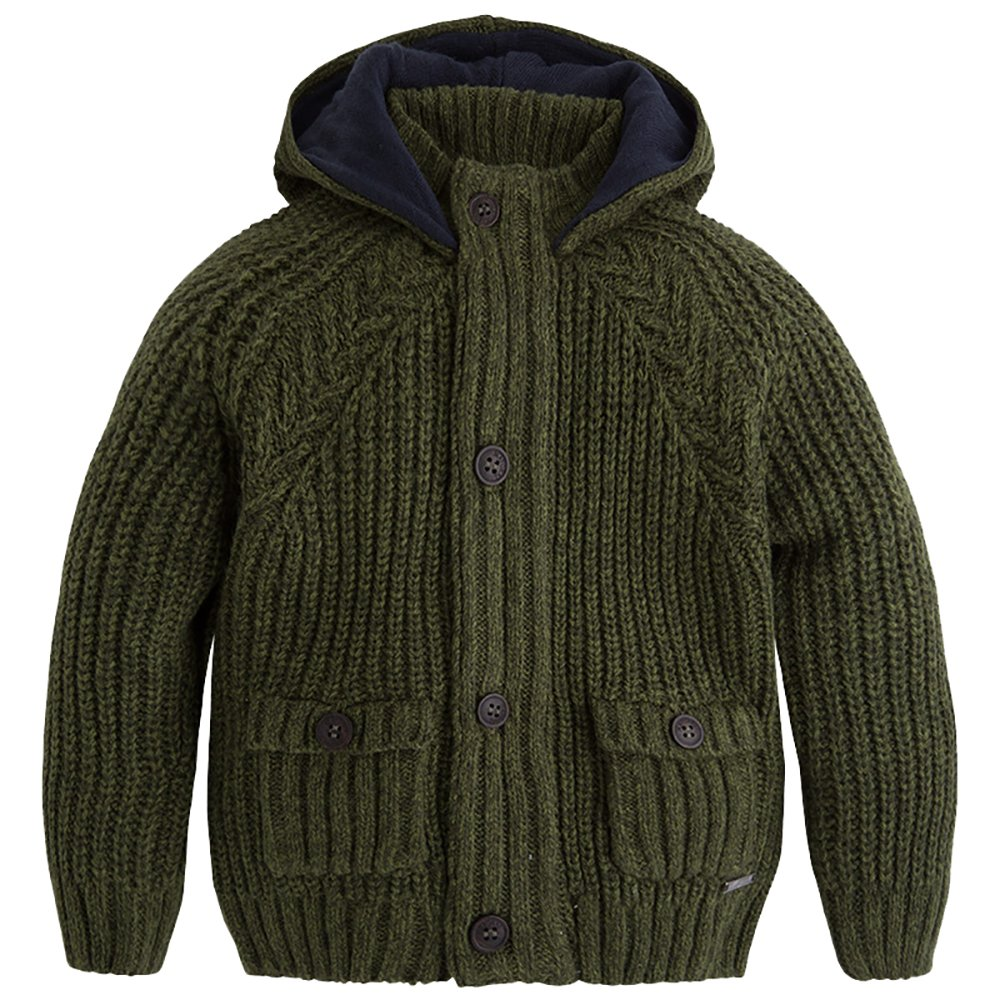 Mayoral Boys Knitted Green Hooded Cardigan