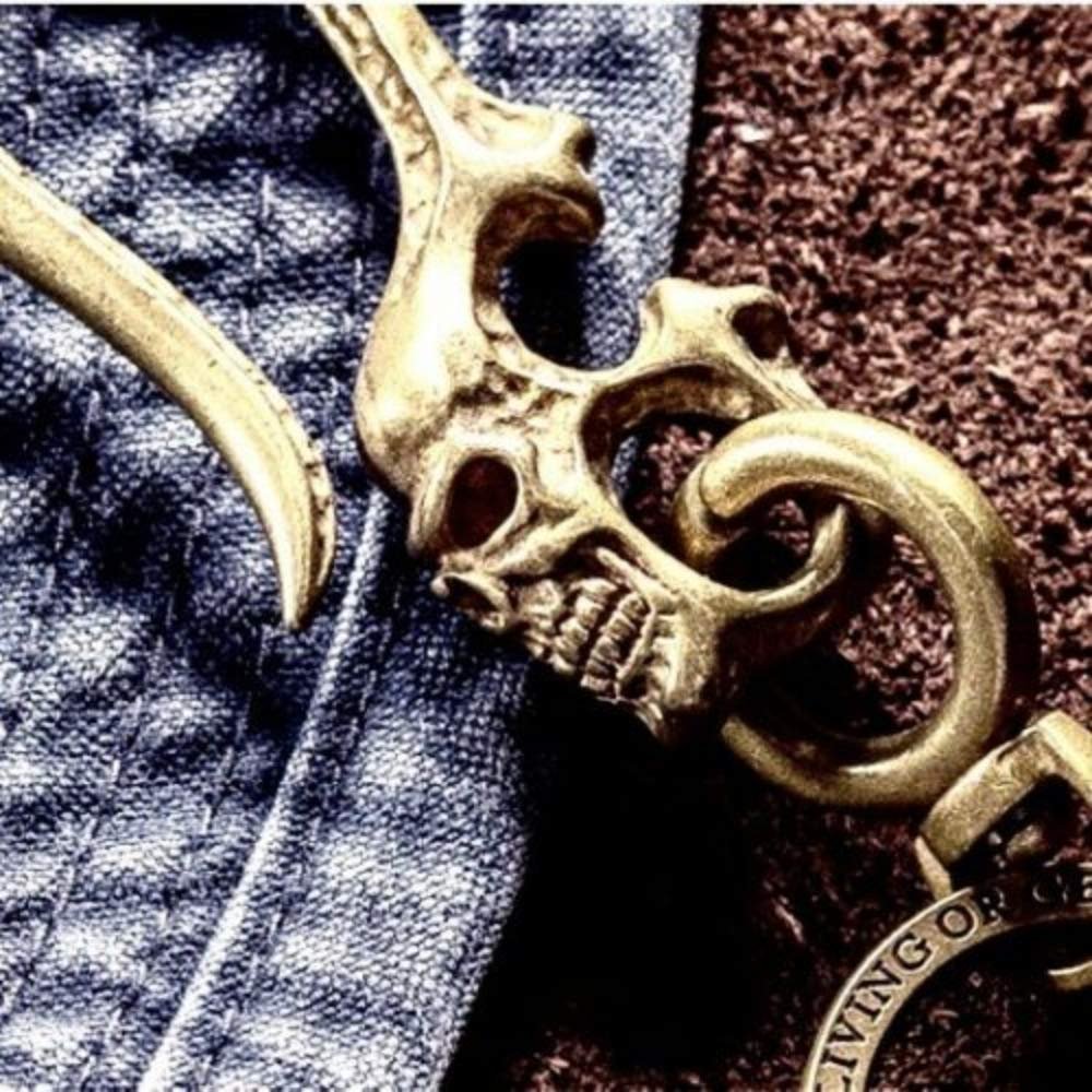 Retro Biker Brass Hook Fob Clip Wallet Jean Mens For Key Chain Keyring