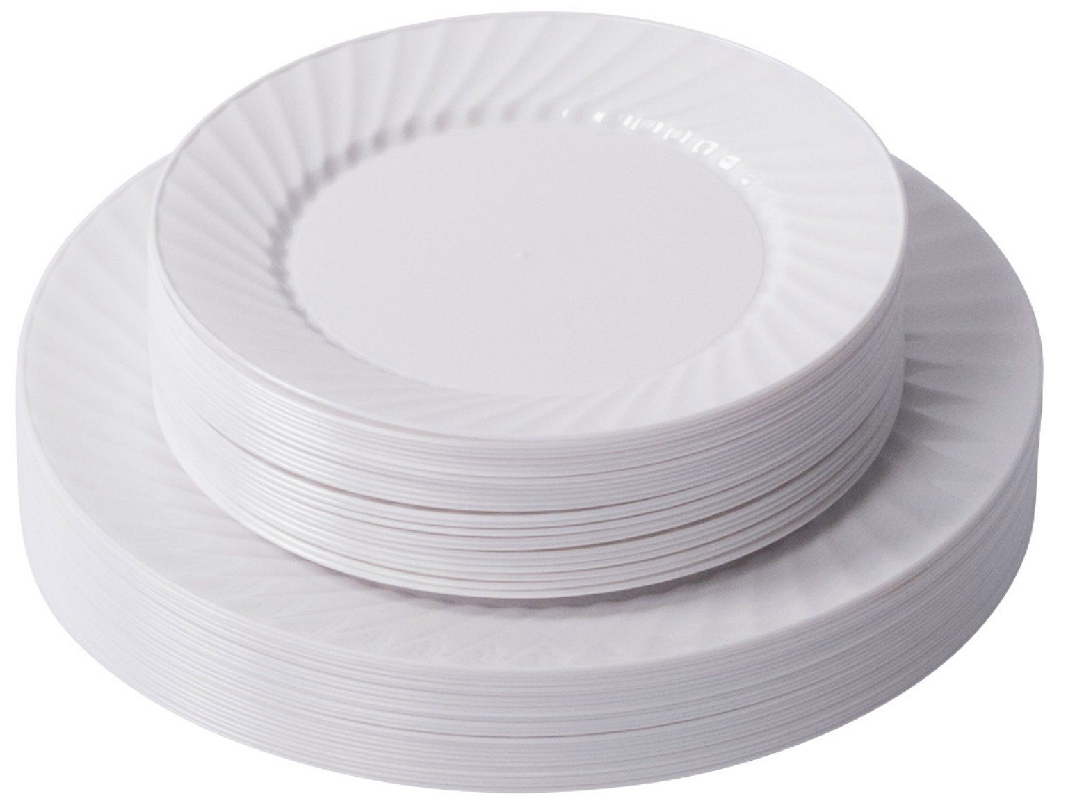 Zappy 50 Disposable Plastic Plates 25 White Dinner Plates (10.25\ ) and 25 Salad  sc 1 st  Amazon.com & Best Rated in Appetizer Plates \u0026 Helpful Customer Reviews - Amazon.com