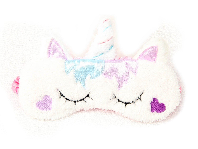 3 Pack Unicorn Sleep Mask Cute Unicorn Horn Soft Plush Blindfold Eye Cover Eyeshade for Teens Girls Women Plane Travel Nap Night Sleeping by OurSuperDeals (Image #3)