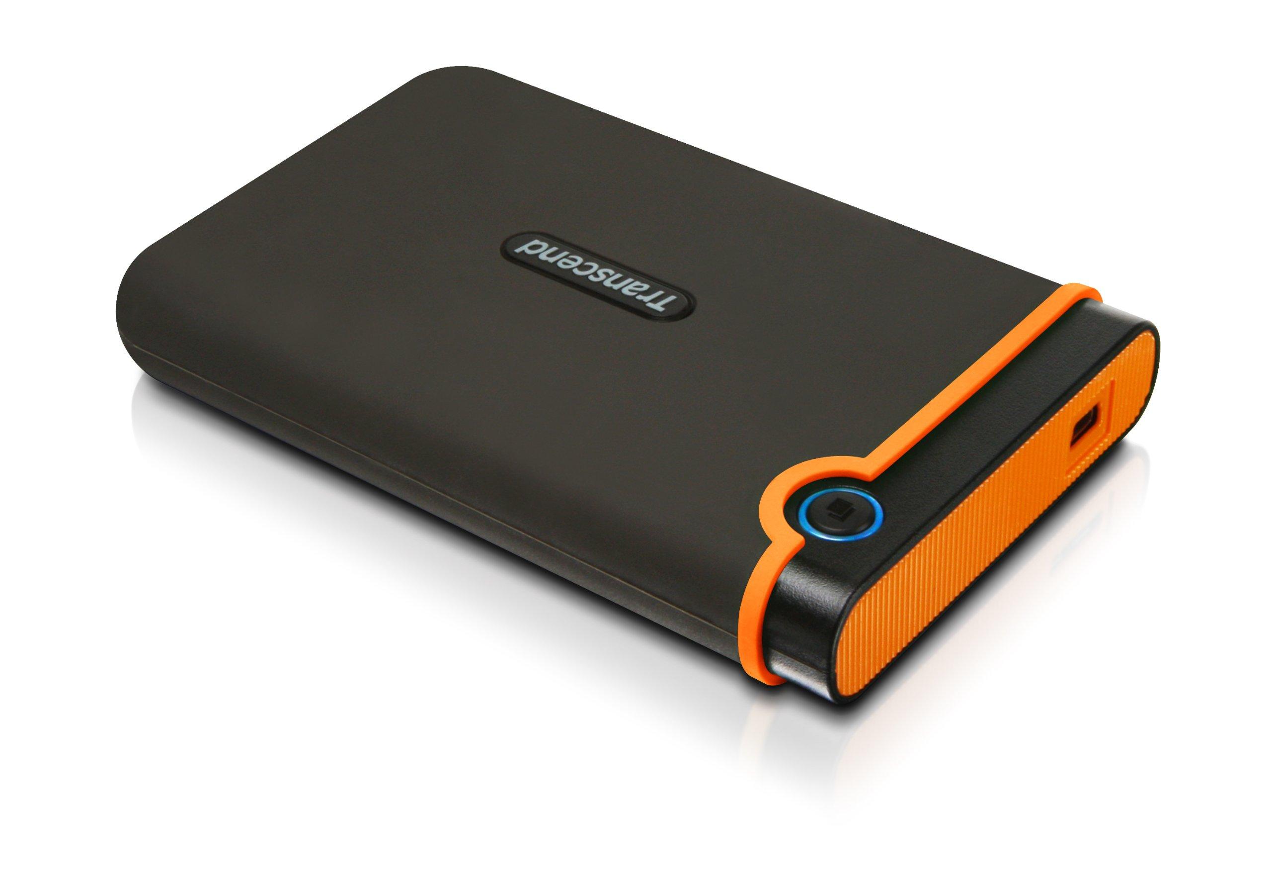 Transcend 500GB StoreJet M2 External HDD Military-Grade Shock Resistance by Transcend