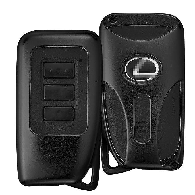 Funda para Llave de Coche para Lexus IS ES GS NX RX LX, Aleación de Aluminio Jonwelsy Llavero de Coche Smart Remote Llavero Llavero Foba Cover, Negro ...