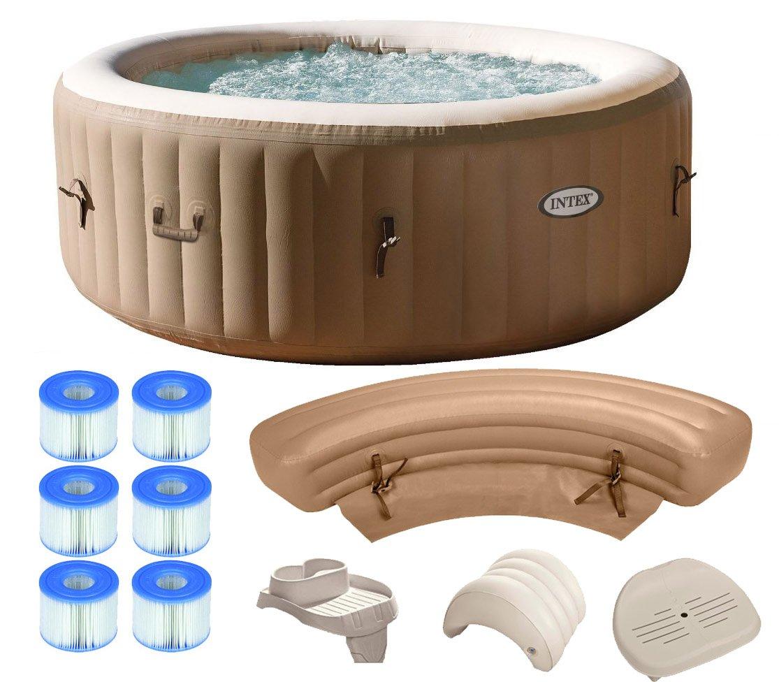 Amazon.com : Intex Pure Spa 4-Person Inflatable Portable Hot Tub ...