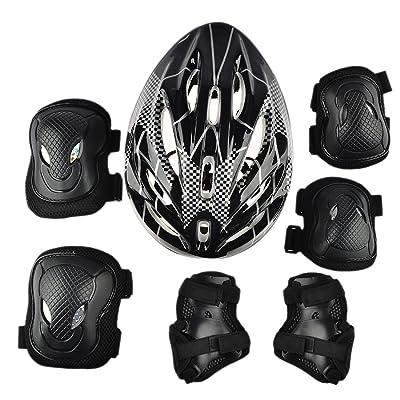 équipement de protection, Foxom Adulte casque de protection et ensemble de coussinets, 7pcs, Skateboarding, Patins, cyclisme, activité de plein air