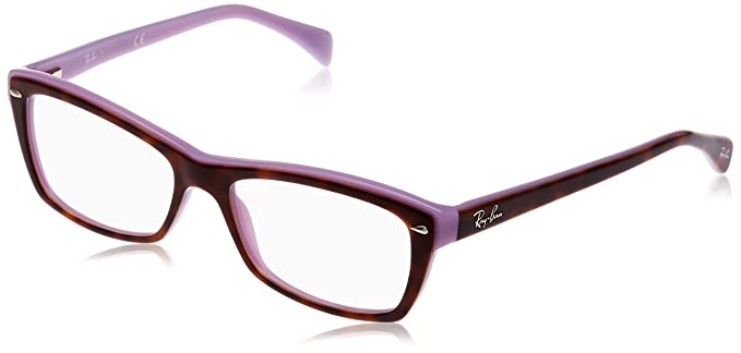 412e3cf8213ba Amazon.com  Ray-Ban Women s RX5255 Eyeglasses Top Havana On Violet ...