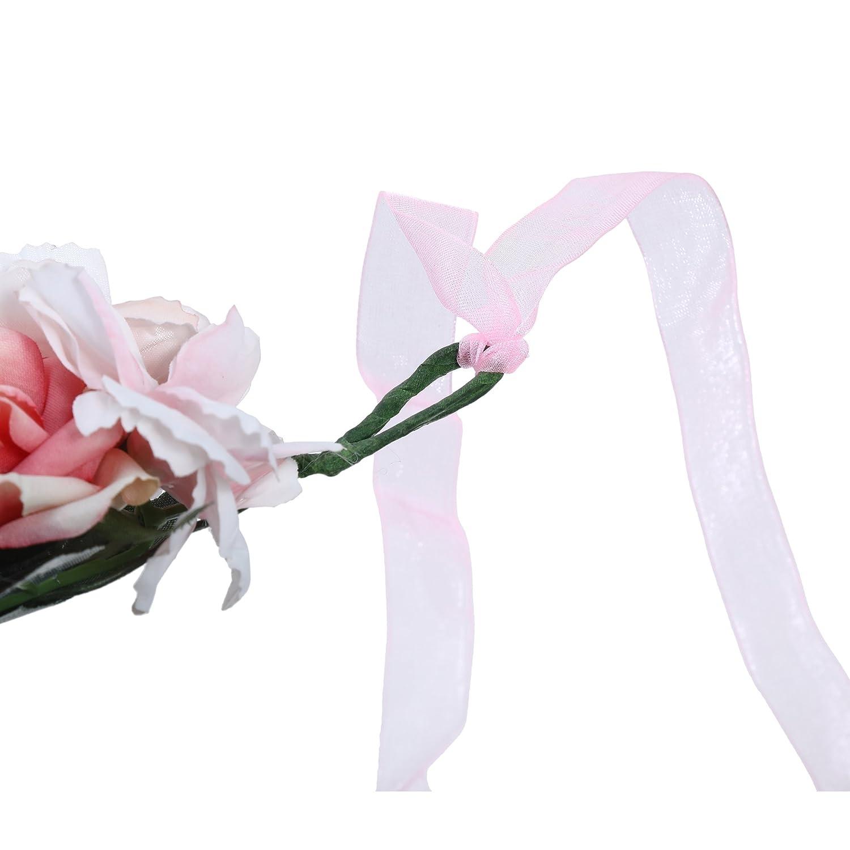 AWAYTR Bandeau cheveux de mariage floral Couronne Couronne de fleurs