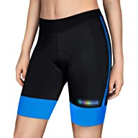 CYCWEAR Women's Bike Shorts 4D Padded, Breathable Quick-Dry Anti-Slide Cycling Shorts for Outdoor Sport Indoor Exercise
