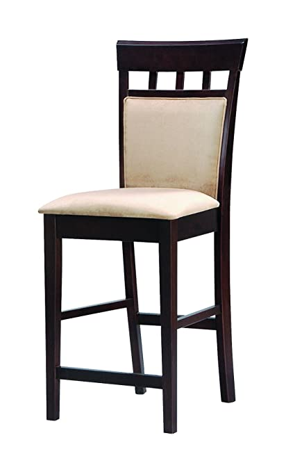 Amazoncom Gabriel 24 Upholstered Panel Back Counter Stools