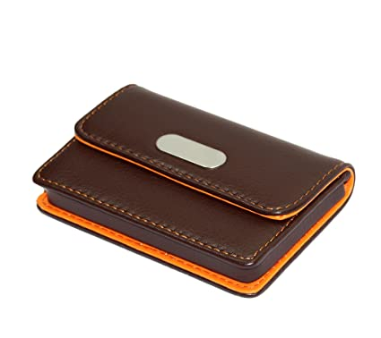 Pocket sized leather credit card holder wallet business card case pocket sized leather credit card holder wallet business card case coffeeorange reheart Choice Image