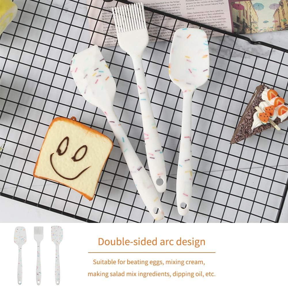 feihao Spatule de Silicone de Cusine Kit Set de 6 Spatule en Silicone R/ésistant /à la Chaleur pour Cuisine et Faire des G/âteaux sans BPA Anti-adh/é