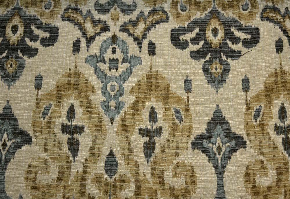 Amazon Com Blue Green Heavy Chenille Ikat Upholstery Sandoa Spa