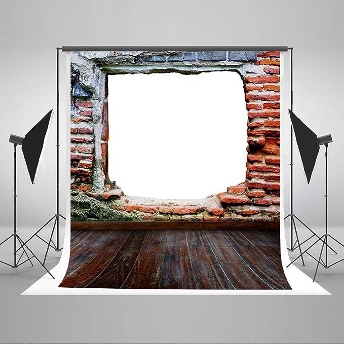 Kate 10 x 10FT rojo diseño de puerta de ladrillo retro suelo de madera telón de fondo para la fotografía de bodas Studio fondos j01508 sesión de fotos: Amazon.es: Electrónica