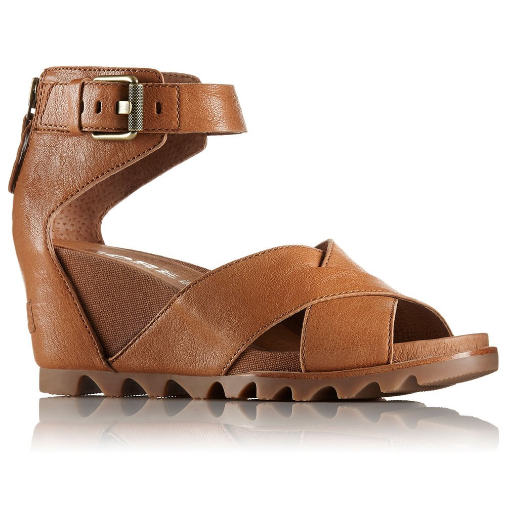 SOREL Women's Joanie II Casual Wedge Sandal Camel BRN 7 M US