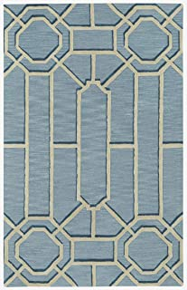product image for Capel Ironworks Pale Blue 5' x 8' Rectangle Hand Tufted Rug